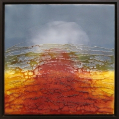 "13""x13"" Encaustics with float frame"